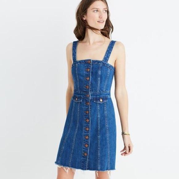 40b5c37b2c Madewell Dresses   Skirts - Madewell Raw Edge Denim Button Front Dress